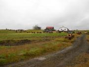 Hästarna lämnas på Grímsstaðirs gård över natten