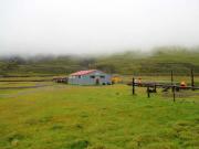 Tredje dagens morgon vid fjällstugan Hítarhólmur
