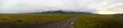 Snæfellsneshalvön med glaciären Snæfellsjökull bland molnen