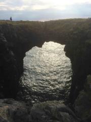 Klippor längs kusten