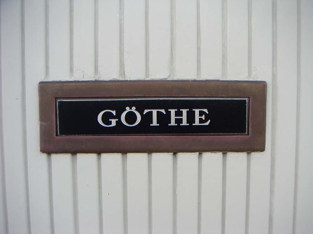 Här bor Göthe