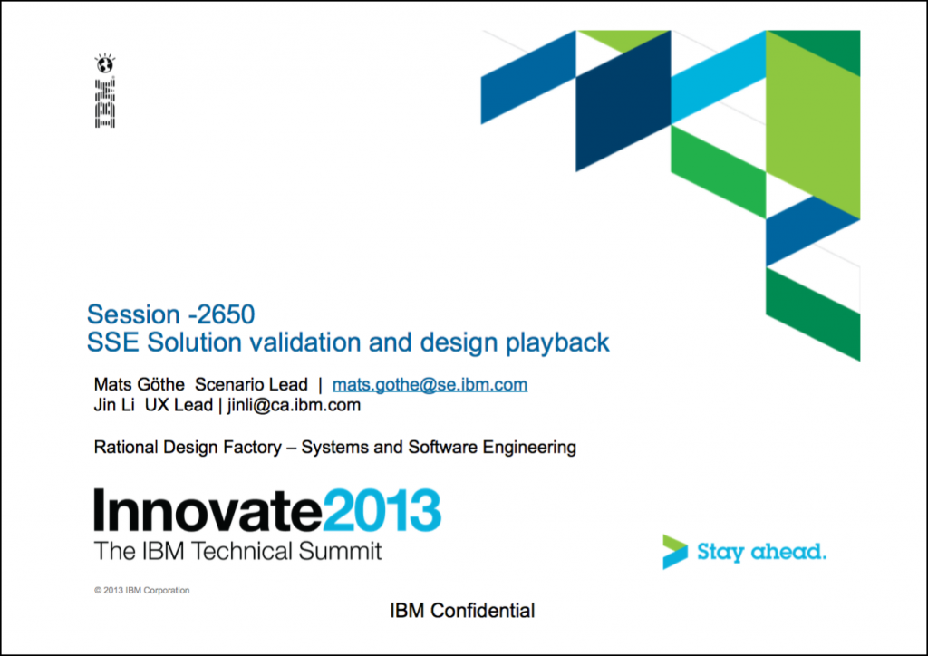 Innovate2013-2650_SSE_Solution_validation_and_design_playback